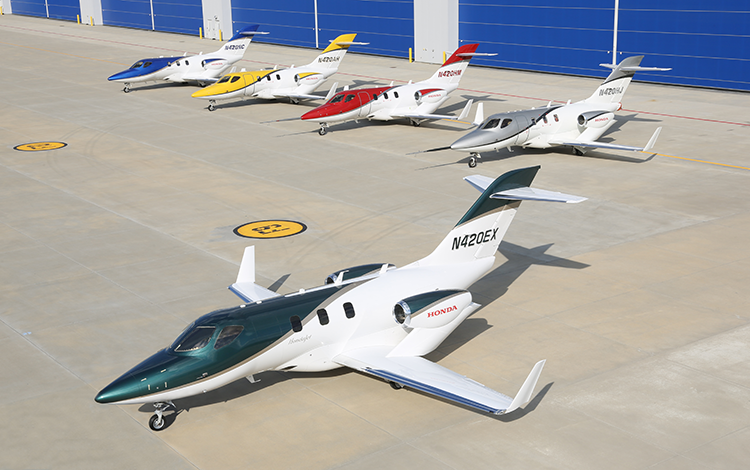 HONDAJET FLEET WITH FIRST PRODUCTION AIRCRAFT